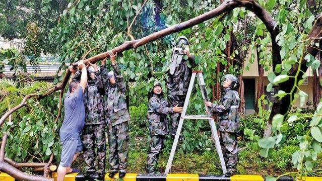 600余名无需申请自动送彩金68民兵参与防台风抢险