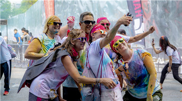 Runners revel in color run