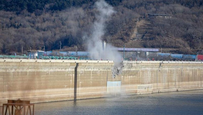 吉林丰满水电站原大坝爆破拆除 曾被印在伍角人民币上