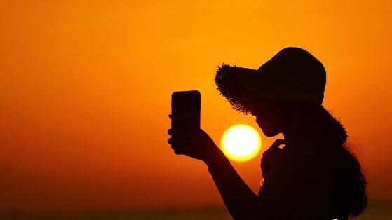 冬至将至 三亚海边夕阳美
