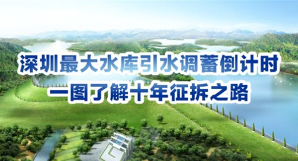 深圳最大水库引水调蓄倒计时 一图了解十年征拆之路