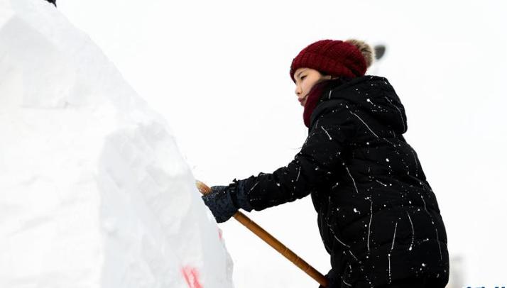 2019第十一届国际大学生雪雕大赛开铲