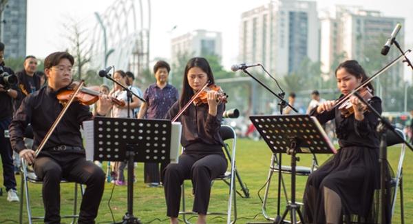 四季公园奏响春之声序曲 宝安文化共享家园周末音乐会启动