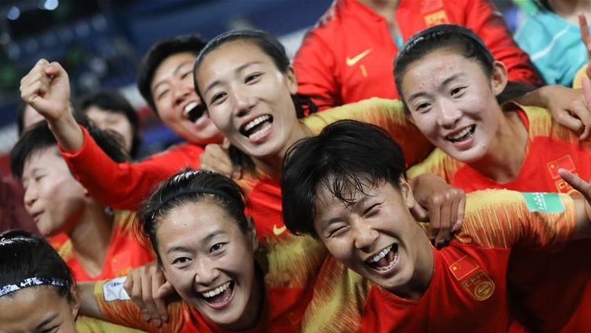 女足世界杯B组小组赛 中国队1比0战胜南非队