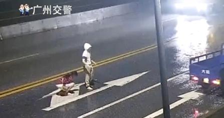 悲痛!情侣深夜在马路中央争吵,女生被撞身亡