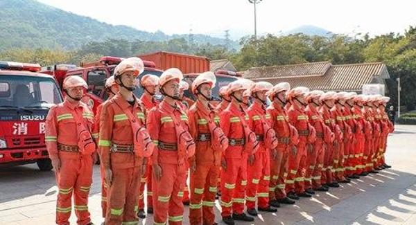 宝安区领导慰问区森林消防大队赴佛山、韶关等地灭火参战队员