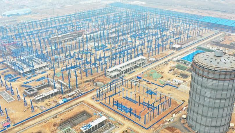 河钢石钢环保搬迁升级改造项目建设工地复工