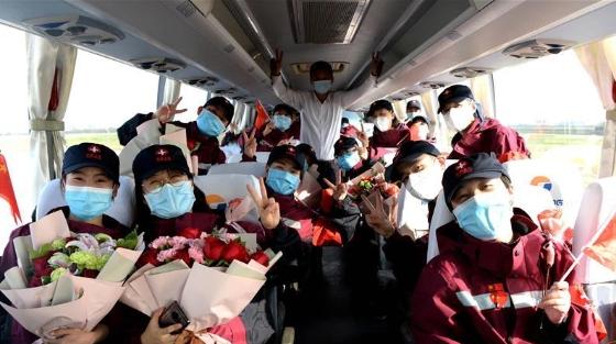 陕西省最后一支援鄂医疗队回家
