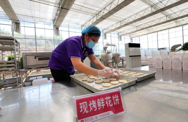 济南紫金玫瑰谷生态基地现场制作鲜花饼