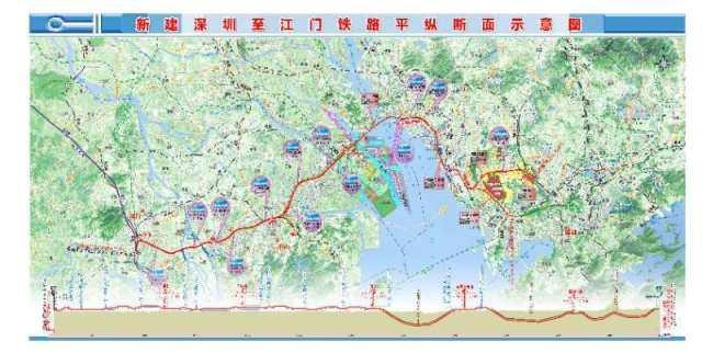 深圳至江门铁路先行段工程珠江口隧道开工建设!