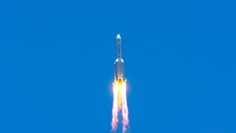 长征五号遥四运载火箭点火升空 我国首次火星探测任务开始