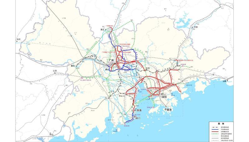 发改委批复粤港澳大湾区城际铁路建设规划