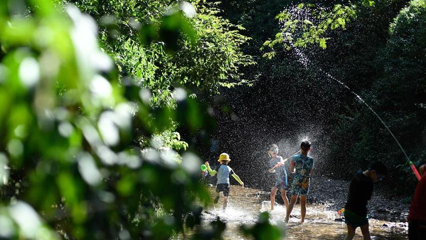 杭州:九溪戏水觅清凉