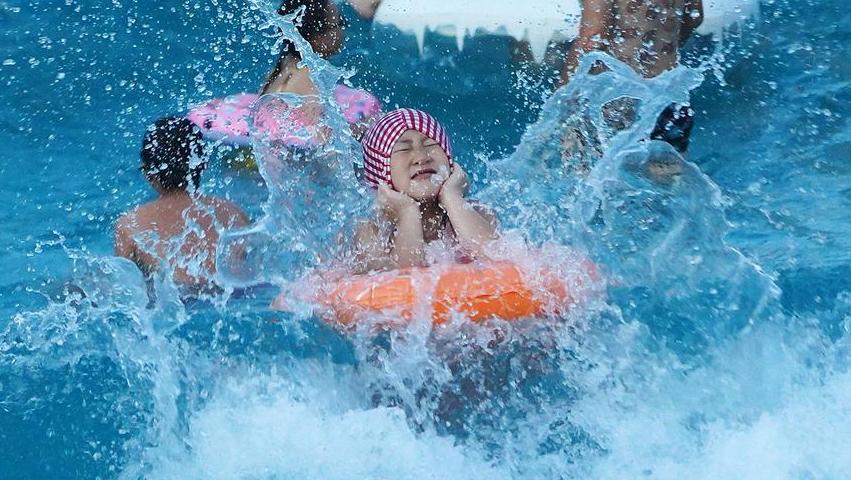 夏日戏水享清凉