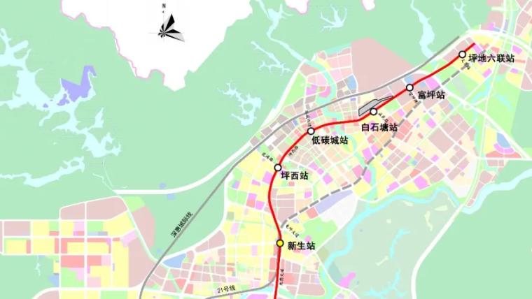 将通往坪地片区!深圳地铁3号线东延主体围护结构开工
