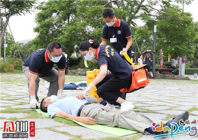 检伤分类、包扎、止血……大鹏新区上演教科书式的救援演练