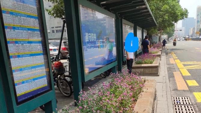 为什么花坛设在公交站正前方? 交通部门回应:站台因地铁施工临时迁移