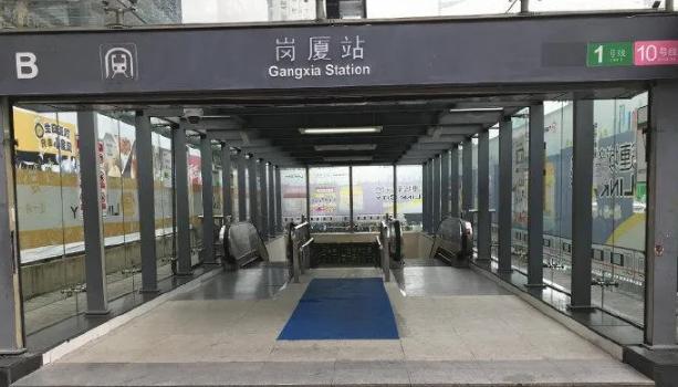 注意!深圳地铁1号线岗厦站B出入口临时封闭半年