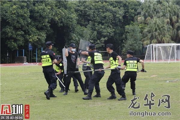 ?龙华平安志愿者技能比武展风采 群防群治保平安