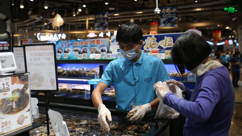 盒马水贝店复业 专家现场指导超市怎么做才安全