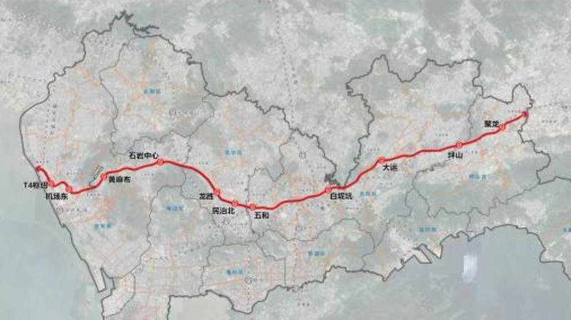 深圳轨道交通33号线、深惠城际前海至龙岗段线路公示