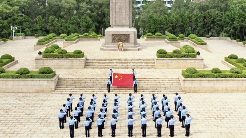 弘扬英烈精神,深圳皇岗边检站民警开展烈士纪念日活动