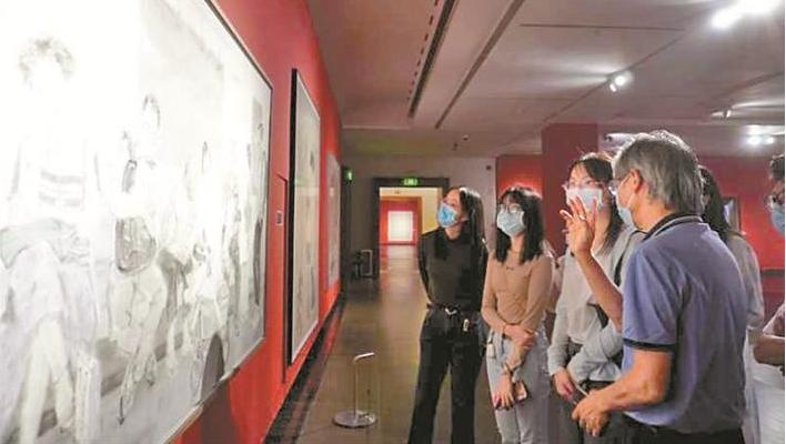 广东贺经济特区建立40周年美术作品展开幕 全景记录特区40年壮丽画卷
