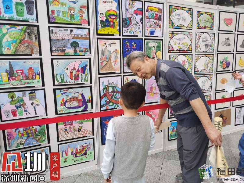 """两百余幅书画作品展出 彩虹社区的""""小艺术家""""棒棒哒"""