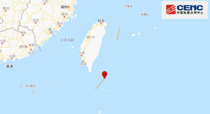 台湾台东县海域发生4.6级地震,震源深度12千米