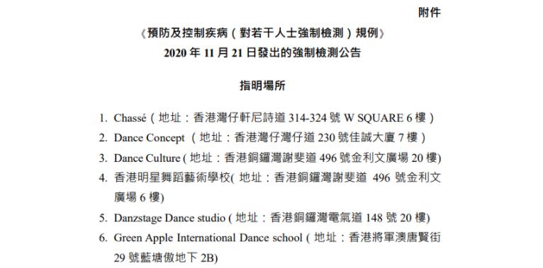 香港新增43宗确诊病例!曾到访这14间舞室的人士须在周二前强制检测