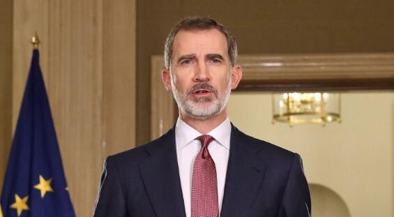 西班牙国王费利佩六世因接触新冠患者被隔离