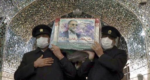 伊朗遭暗杀核科学家法克里扎德葬礼仪式举行真人现金,将于30日下葬
