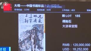 傅抱石《大涤草堂图》以1.38亿元成交