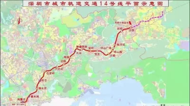 深圳地铁14号线全面进入主体结构施工阶段_