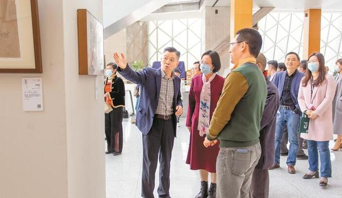 """""""熔古铸今""""展览揭幕 展出南庐书画与清源斋典藏古砖拓印作品"""