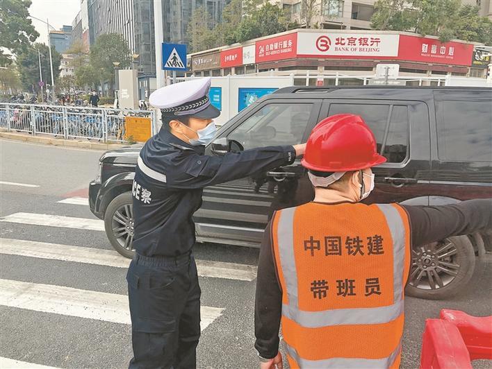 深圳交警开展今年首次整治占道施工会战