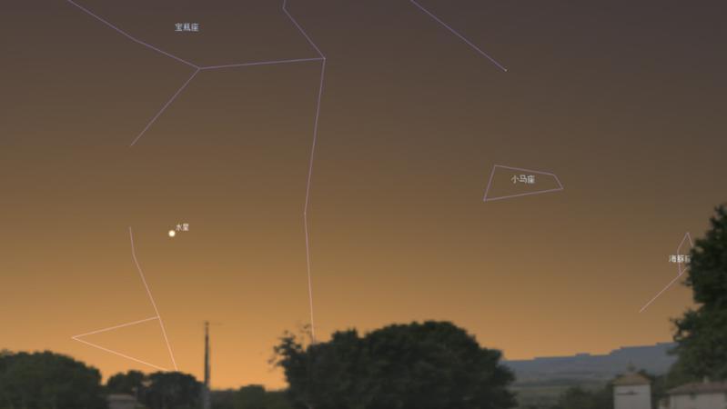 1月24日傍晚将发生水星东大距天象