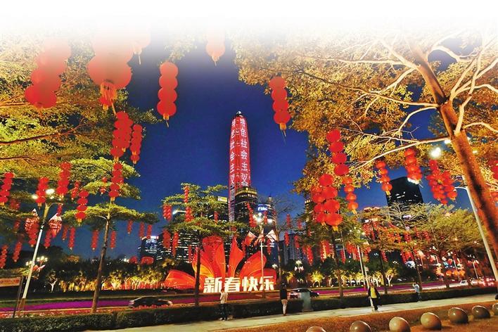 深圳年味浓 处处中国红