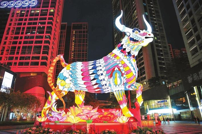 春节期间深圳夜夜上演光影大秀夜与城,入眼处皆璀璨