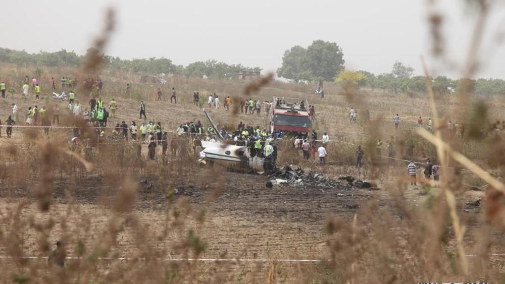 尼日利亚一军机坠毁,机上7人全部遇难