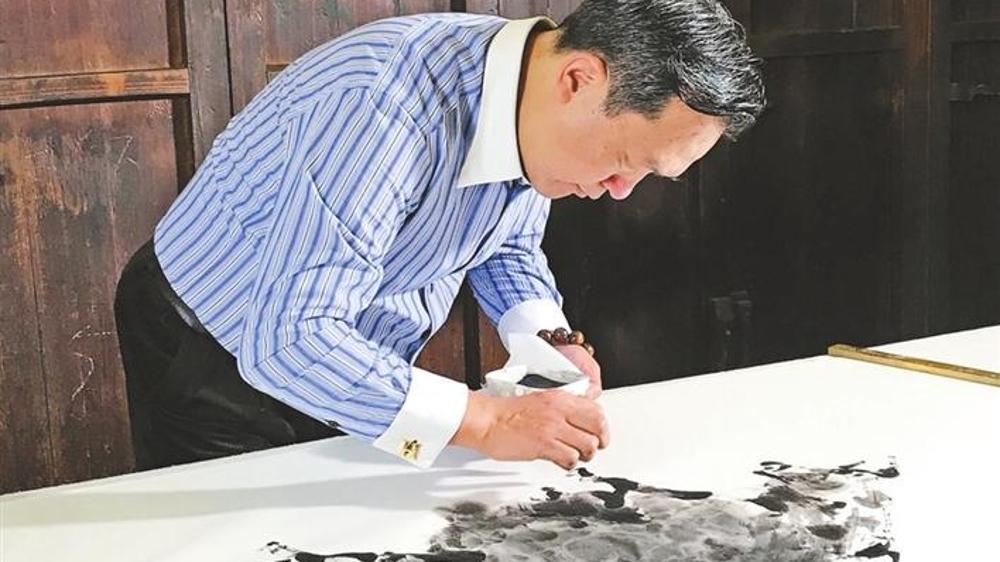 以深圳为中心建立手指书画传承基地