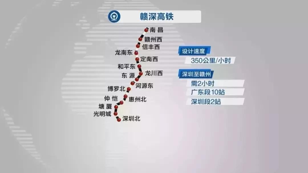 赣深铁路将于年底通车!深圳在建铁路线路基本情况及最新进展(三)