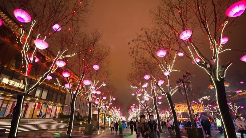 陕西西安:赏彩灯 迎佳节
