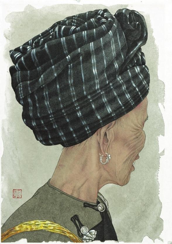 深圳美术馆举办两位女性画家工笔画作品展