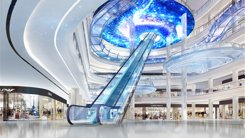 世界最高商业室内扶梯将现龙岗,第四代万达广场6月迎客