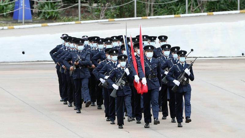 """香港纪律部队""""首秀""""中式步操台前幕后的那些事儿"""