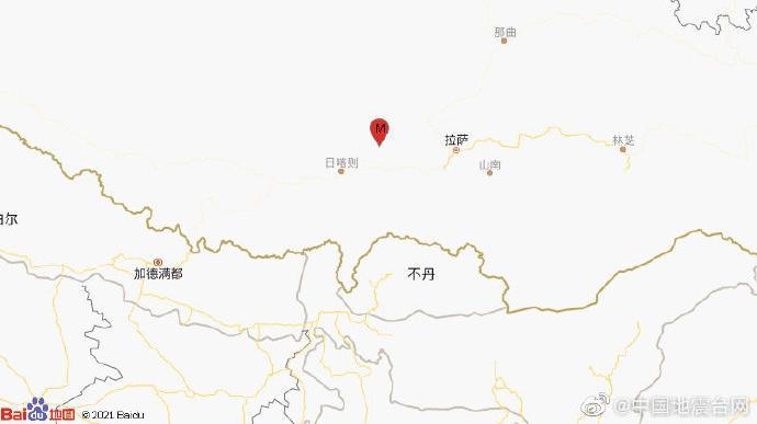 日喀则市南木林县发生4.0级地震,震源深度24千米