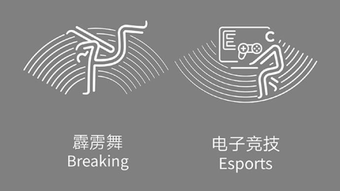 杭州亚运会新增霹雳舞、电子竞技项目体育图标出炉