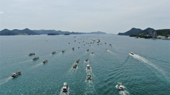 出动100多艘渔船 韩团体示威反对日核污水排海决定