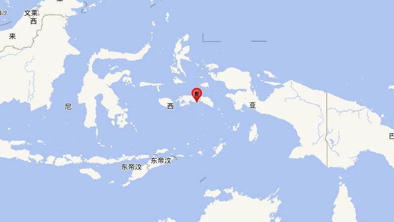 印尼塞兰岛海域发生5.9级地震,震源深度10千米